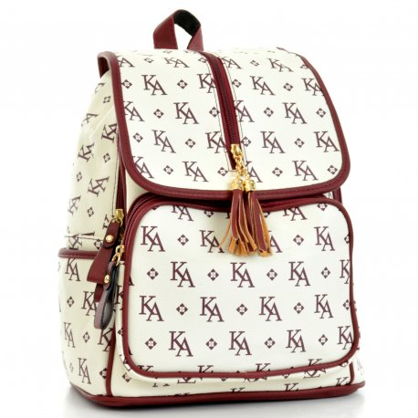 Backpack Letras Vino Rojo