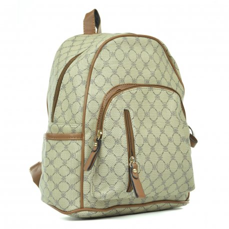 Backpack Taupe Cierre Vertical