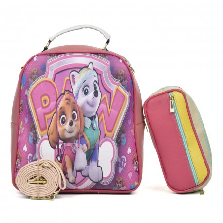 Duo Mochila Melly Paw con cosmetiquera multicolor