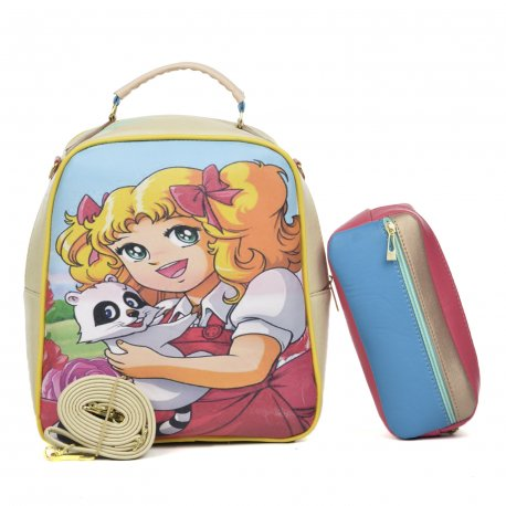 Duo Mochila Melly Candy Friend con cosmetiquera multicolor