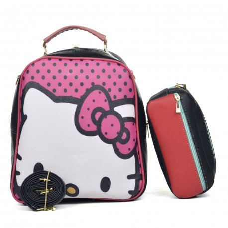 Duo Mochila Melly Kitty con cosmetiquera multicolor