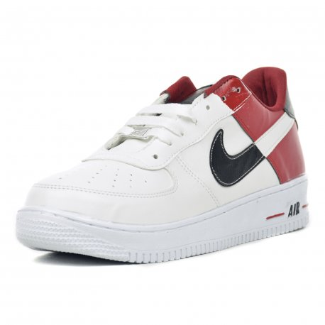 Tenis Casual Caballero Air Blanco Rojo