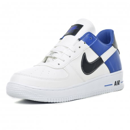 Tenis Casual Air Dama Blanco Azul Rey